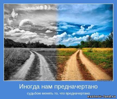 Две дороги - два пути.